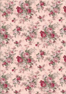 Fabric Freedom Daydream - Rose On Pink