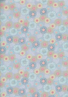 Fabric Freedom In Bloom - FF13-1 Steel Blue