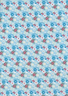 Fabric Freedom In Bloom - FF14-6 Light Blue