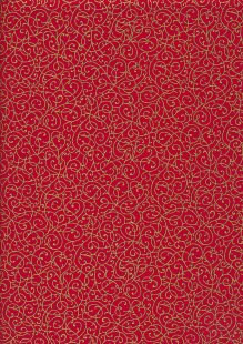 Fabric Freedom - Gilded Scrollwork Red 2453/TOPG1 Col 68