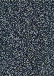 Fabric Freedom - Gilded Scrollwork Teal 2453/TOPG1 Col 78