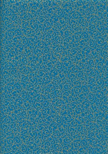 Fabric Freedom - Gilded Scrollwork Turquoise 2453/TOPG1 Col 25