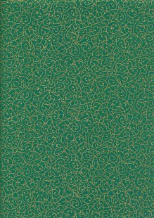 Fabric Freedom - Gilded Scrollwork Green 2453/TOPG1 Col 43
