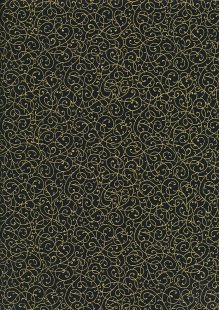Fabric Freedom - Gilded Scrollwork Black 2453/TOPG1 Col 81