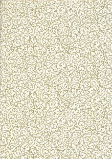 Fabric Freedom - Gilded Scrollwork White 2453/TOPG1 Col 11