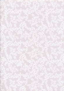 Fabric Freedom - Flowers Trellis FF5613 White On Light Grey
