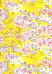 Fabric Freedom - Oriental Floral Gilded Cherry Blossom Orange