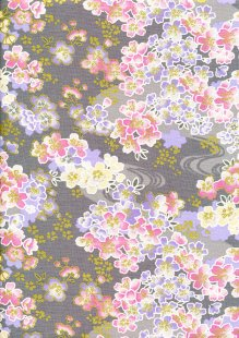 Fabric Freedom - Oriental Floral Gilded Posy Yellow