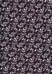 Fabric Freedom - Silhouette White on Aubergine FF196 COL 1