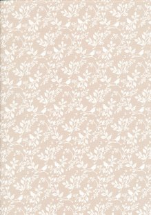 Fabric Freedom - Silhouette White on Taupe FF196 COL 2