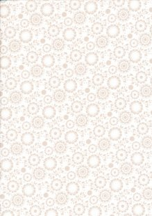 Fabric Freedom - Silhouette Taupe on White FF198 COL 2