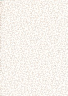 Fabric Freedom - Silhouette Taupe on White FF199 COL 2