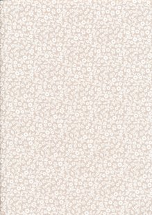 Fabric Freedom - Silhouette White on Taupe FF197 COL 2