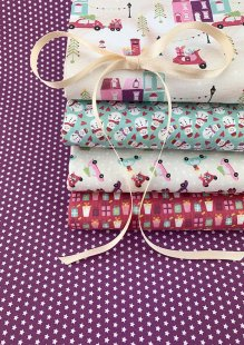 Fabric Freedom - Retro Christmas 5 x Fat 1/4 Pack 1