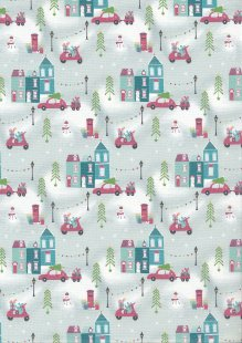 Fabric Freedom - Retro Christmas FF362 Col 1