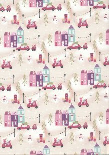 Fabric Freedom - Retro Christmas FF362 Col 2