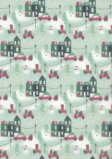 Fabric Freedom - Retro Christmas FF362 Col 3