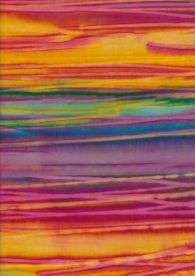 Fabric Freedom Strip Dye Bali Batik - BK 422/B Yellow