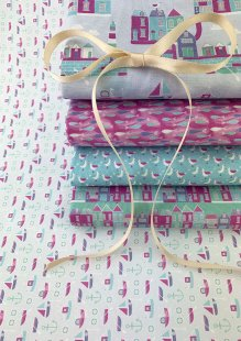 Fabric Freedom - Seaside 5 x Fat 1/4 Pack 1