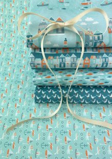 Fabric Freedom - Seaside 5 x Fat 1/4 Pack 2