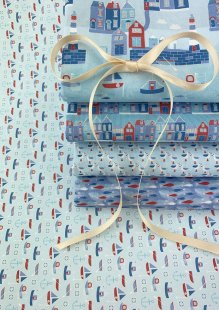 Fabric Freedom - Seaside 5 x Fat 1/4 Pack 3