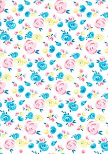 Fabric Freedom - Watercolour Swirls FF306 Col 2