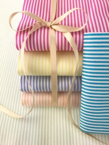Craft Cotton Co Pastel Stripes Fat 1/4 Pack - 6 pieces