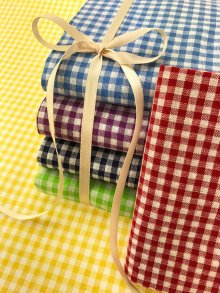 Craft Cotton Co Gingham Fat 1/4 Pack - 6 pieces