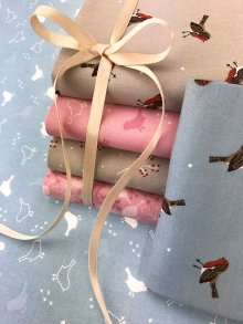 Craft Cotton Co Christmas Robin Fat 1/4 Pack - 6 pieces