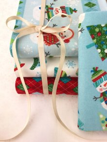 Craft Cotton Co Snowman Christmas Fat 1/4 Pack - 5 pieces