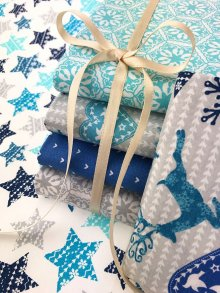 Craft Cotton Co Nordic Trend Blue by Victoria Louise Fat 1/4 Pack - 6 pieces