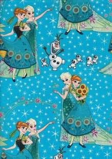 Disney's Frozen - Elsa, Anna & Olaf On Blue