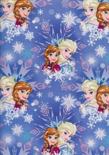 Disney's Frozen - Elsa & Anna On Blue Snowflake