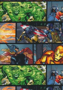 Marvel - Thor, Captain America, The Hulk & Iron Man Comic Strip