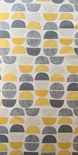 Furnishing Fabric - Luna Mustard/ Grey