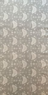 Furnishing Fabric - Birds Silver