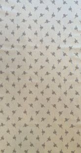 Furnishing Fabric - Bees Taupe on Cream