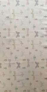 Furnishing Fabric - Insects Multi Pastels
