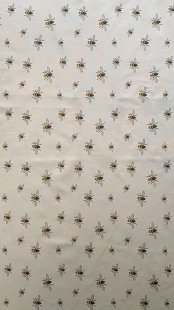 Furnishing Fabric - Bees Stone