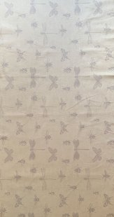 Furnishing Fabric - Butterflies and Bugs Dove Grey on stone