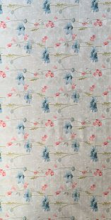 Furnishing Fabric - Floral Blue