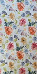 Furnishing Fabric - Floral Orange