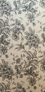 Furnishing Fabric - Floral and Birds Black