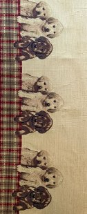 Furnishing Fabric - Dogs Beige/Red