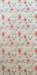 Furnishing Fabric - Floral Pink