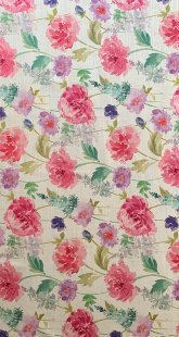 Furnishing Fabric - Floral White