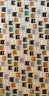 Canvas Furnishing Fabric - Cats Grey
