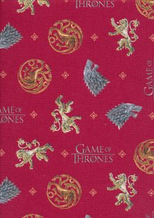 Game Of Thrones - House Targaryen, House Stark & House Lannister Red 39400 Col 102