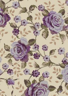 Ginger Lily Studio - Lincoln Lane Large Purple Rose