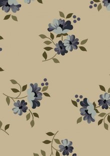 Ginger Lily Studio - Lincoln Lane Small Blue Floral